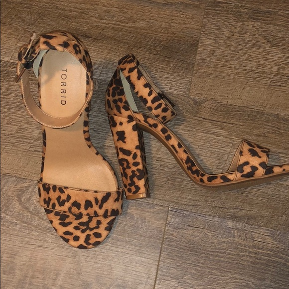 torrid Shoes   Wide Width Leopard Heels
